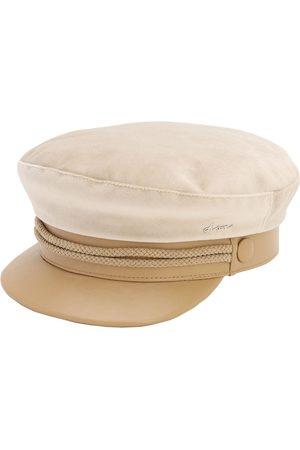 DON Women Hats - Velvet & Leather Sailor Cap