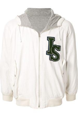 Issey Miyake 1980's Sports Line logo reversible hoodie
