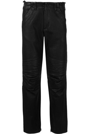 Helmut Lang 1999 quilted artificial leather trousers