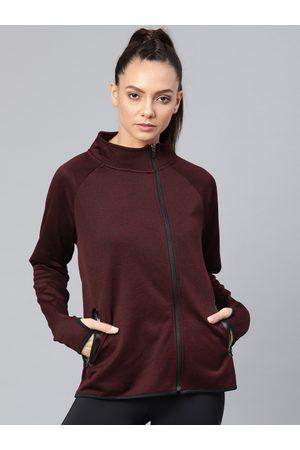 HRX Women Burgundy Training Sporty Jacket