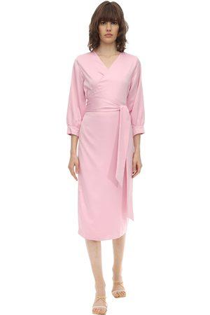 Aéryne Cowry Satin Wrap Dress