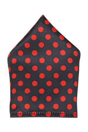 Blacksmith Men Red & Black Printed Pocket Square