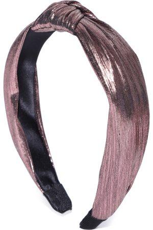 PRITA Women Gunmetal-Toned & Pink Knot Detail Hairband