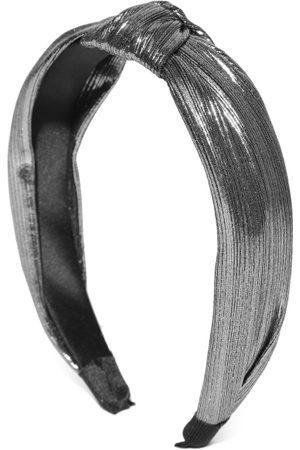 PRITA Women Gunmetal-Toned Knot Detail Hairband