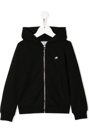 Philipp Plein Girls Hoodies - Rhinestone logo zip-up hoodie