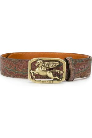 Etro Printed logo-buckle belt