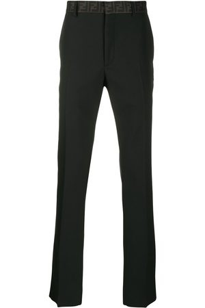 Fendi Logo waistband tailored trousers