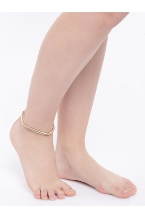 OOMPH Women Gold-Toned Artificial Stone-Studded Anklet