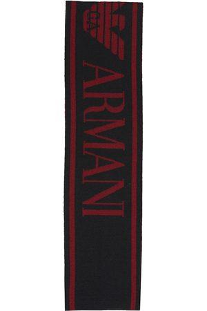 Emporio Armani Logo wool-blend scarf