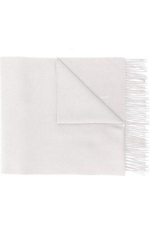 MACKINTOSH Greige Cashmere Embroidered Scarf | ACC-013/E