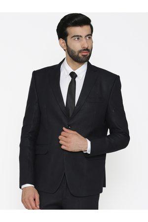 Wintage Men Black Solid Blazer