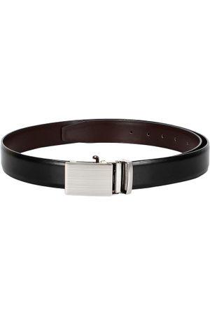 amicraft Men Black & Brown Solid Reversible Belt
