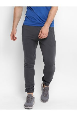 Alcis Men Grey Solid Straight-Fit Joggers
