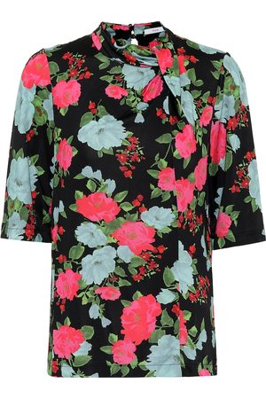 Erdem Women Tops - Kacey floral jersey top