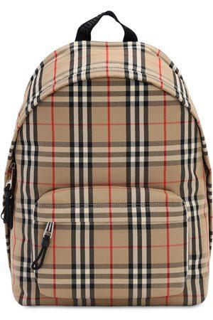 Burberry Men Rucksacks - Jett Check Canvas Backpack