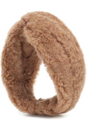 Max Mara Ovidio camel wool and silk headband
