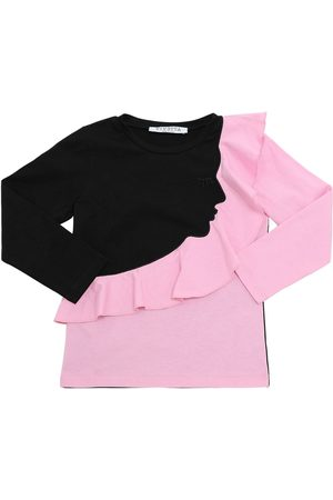 VIVETTA Embroidered L/s Cotton Jersey T-shirt