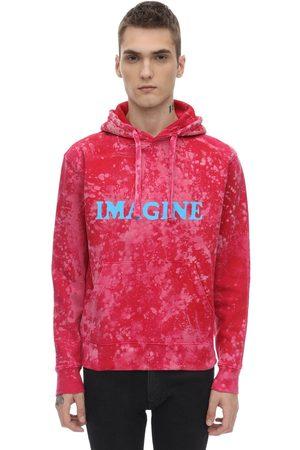 DARKOVELI Men Sweatshirts - Imagine Bleach Cotton Jersey Sweatshirt
