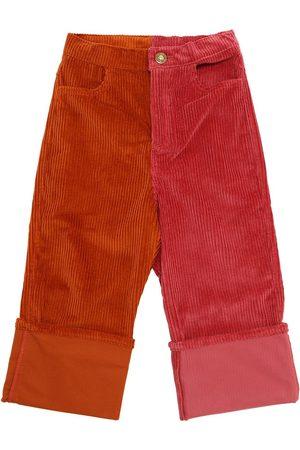 Oscar de la Renta Girls Trousers - Cotton Corduroy Pants