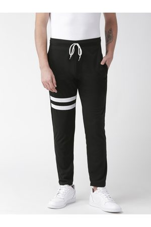Hubberholme Men Black Solid Slim Fit Track Pants