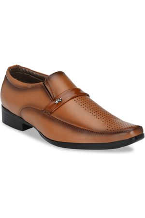Sir Corbett Men Tan Brown Solid Slip-Ons