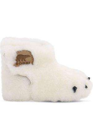 sorel Bear' Logo Shearling Boots