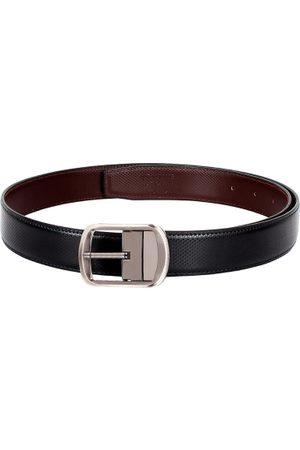 amicraft Men Belts - Men Black & Brown Textured Reversible Belt