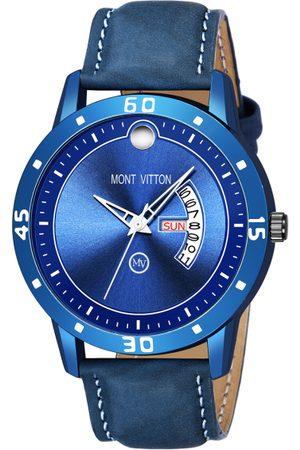 MONTVITTON Men Blue Analogue Watch MV11050
