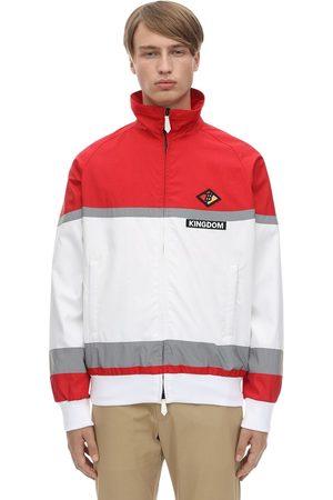 Burberry Logo Patch Zip-up Nylon Track Jacket