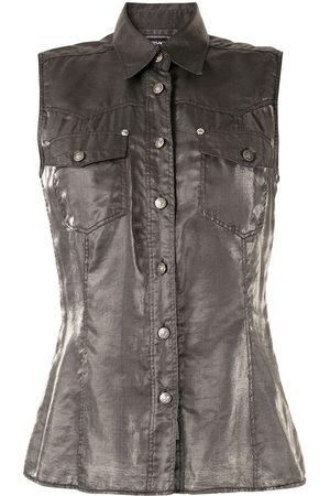 VERSACE Metallic sleeveless shirt