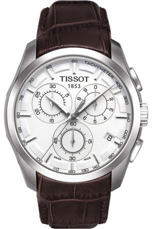 Tissot Men Silver-Toned Couturier Chronograph Swiss Analogue Watch T0356171603100