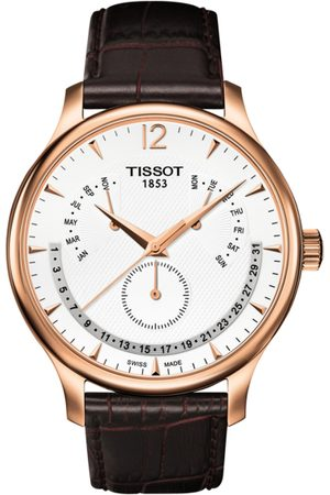 Tissot Men Silver-Toned Traditional Perpetual Calender Swiss Analogue Watch T0636373603700