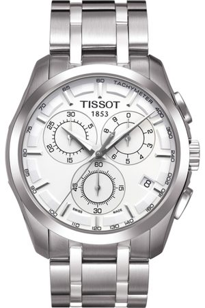 Tissot Men Silver-Toned Couturier Chronograph Analogue Watch T0356171103100