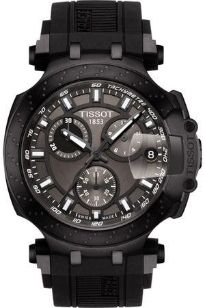 Tissot Men Gunmetal-Toned T-Race Swiss Chronograph Watch T1154173706103