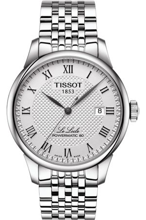 Tissot Men Silver-Toned Le Locle Powermatic 80 Analogue Watch T0064071103300