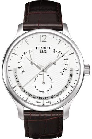 Tissot Men Silver-Toned Traditional Perpetual Calender Swiss Analogue Watch T0636371603700