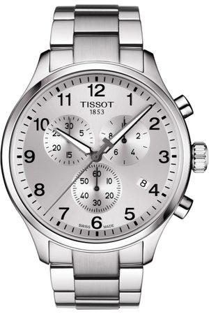 Tissot Men Watches - Men Silver-Toned Chrono XL Classic Swiss Chronograph Analogue Watch T1166171103700