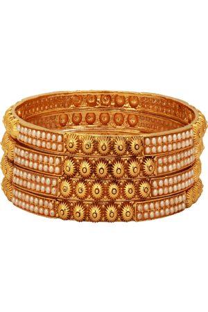Adwitiya Collection Women Set of 4 24KT Gold-Plated Bangles