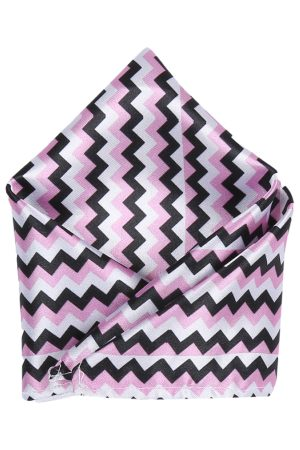 Blacksmith Men Pink & Black Printed Pocket Squares