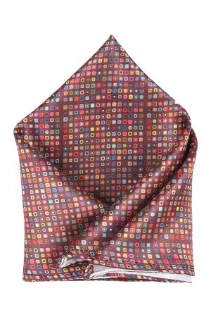 Blacksmith Men Multicoloured Printed Pocket Square