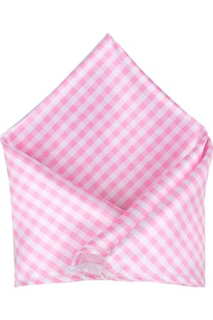Blacksmith Men Pink Checked Pocket Squares