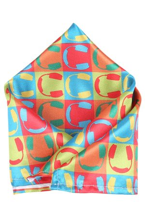 Blacksmith Men Multicoloured Printed Pocket Squares