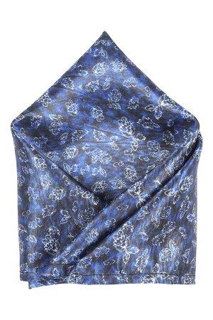 Blacksmith Men Blue Printed Pocket Squares