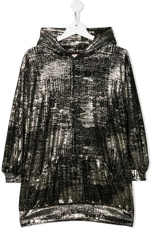 Le pandorine Velvet hooded dress