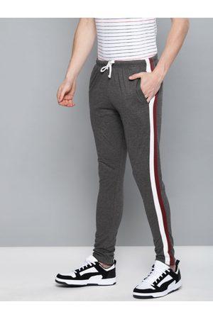 DILLINGER Men Charcoal Grey Solid Slim Fit Track Pants