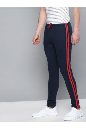 DILLINGER Men Navy Blue Solid Slim Fit Track Pants