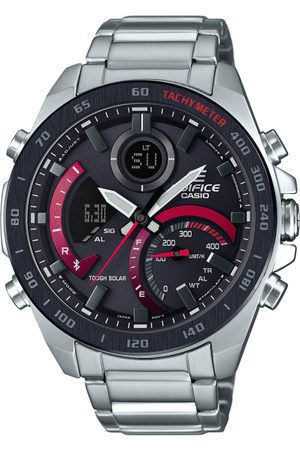 Casio Edifice Men Black Analogue and Digital Watch EX499 ECB-900DB-1ADR