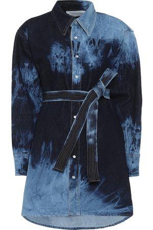 MATTHEW ADAMS DOLAN Tie-dye denim shirt dress