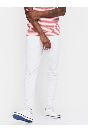 Lifestyle Men Off-White Solid Slim-Fit Joggers