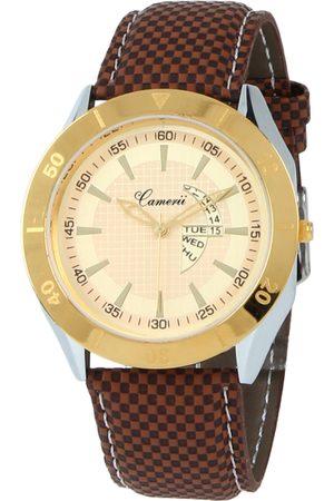 Camerii Men Gold-Toned Analogue Watch WM59_L